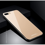 Golden Luxury Hybrid Tempered Glass Case for iPhone